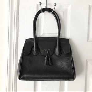 Brooks Brothers Brown Leather Top Handle Satchel